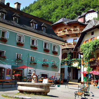 Hallstatt, Salzkammergut, Oberösterreich, Østerrike