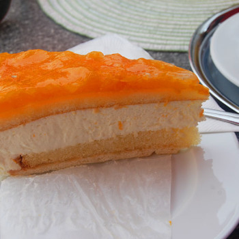 Mandarin-cheese kake