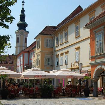 Torget i Bad Radkersburg, Steiermark, Østerrike.