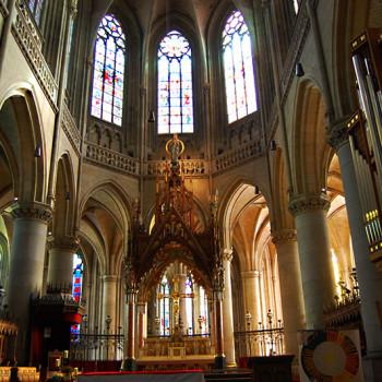 Alteret i domkirken i Linz, Østerrike.