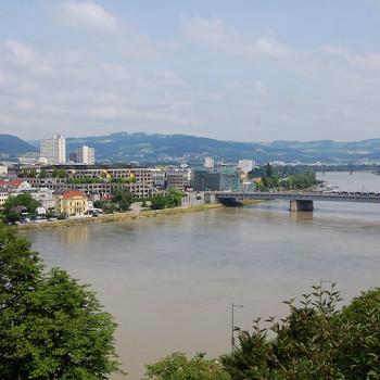 Donau, Linz, Oberösterreich, Østerrike