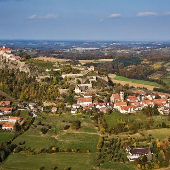 Riegersburg sett fra luften