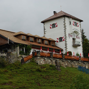Burgschanke ved Haldensee, Tirol, Østerrike.