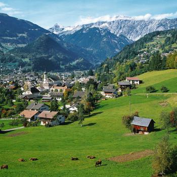 Schruns, Vorarlberg, Østerrike.