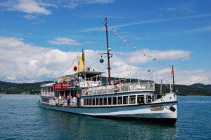 Cruise på Wörthersee, Kärnten, Østerrike