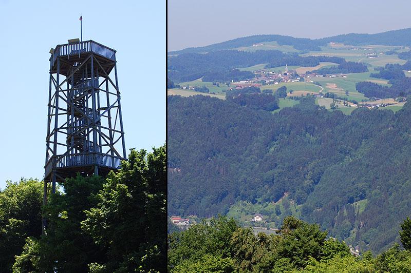 Donaublick ved Burgstall Kirchberg ob der Donau gir deg flott utsikt over Donaudalen.