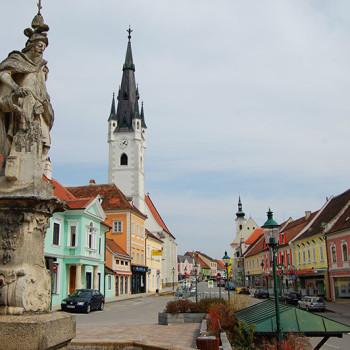 Marktplatz i Horn, Waldviertel, Niederösterreich, Østerrike.