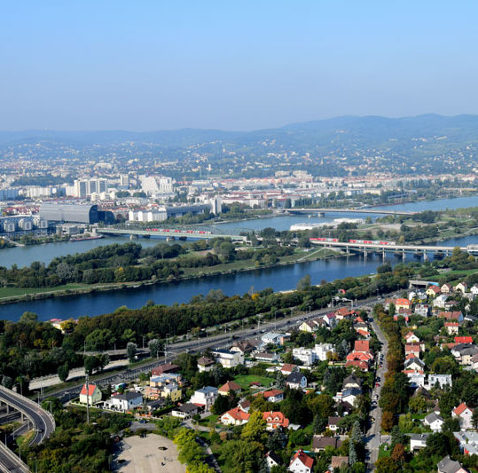 De beste utsiktspunktene i Wien, Donau, Østerrike
