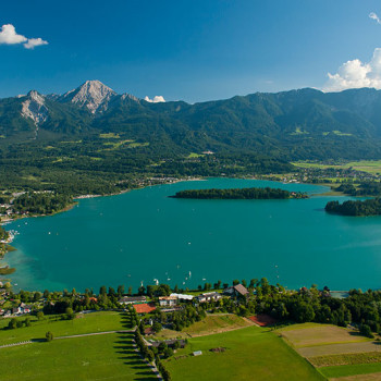 Faaker See, Kärnten, Østerrike.