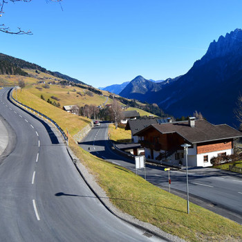 Assling på Pustertaler Höhenstrasse, Osttirol, Tirol, Østerrike.