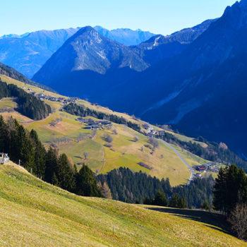 Pustertaler Höhenstrasse, Osttirol, Østerrike.