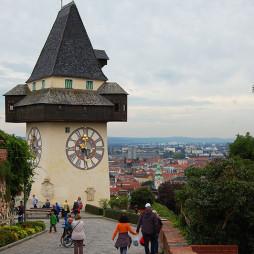 Klokketårnet på Sclossberg, Graz, Steiermark, Østerrike.