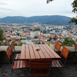 Utsikt over Graz fra Schlossberg