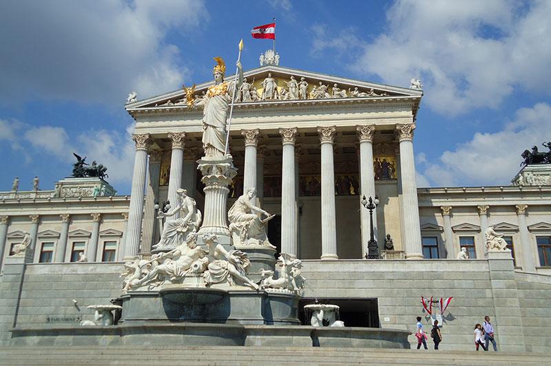 Parlamentet, Det keiserlige Wien, Østerrike