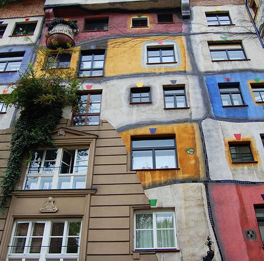 Hundertwasserhaus, en weekend i Wien, Østerrike