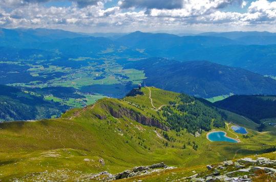 På fjelltur til Speiereck, Salzburg, Østerrike