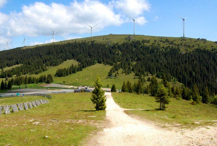 Handalm sett fra Weinebene, Steiermark, Østerrike