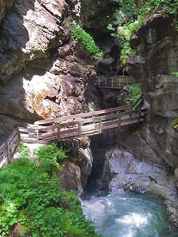 Gilfenklamm, Wipptal, Syd-Tirol, Italia