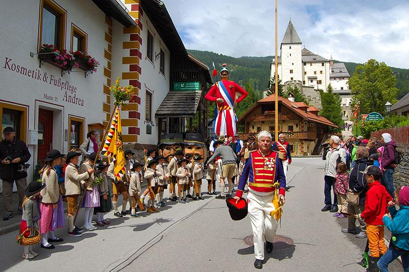 Samson opptog, Mauterndorf, Lungau, Salzburgerland, Østerrike