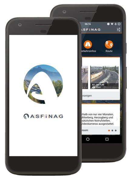 ASFINAG trafikk app for Østerrike