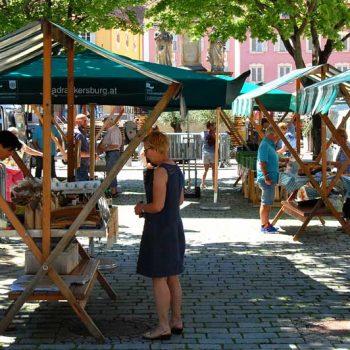 Marked i Bad Radkersburg, Steiermark, Østerrike