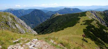 Fjellvandring til Mitteralm i Hochschwab, Steiermark, Østerrike