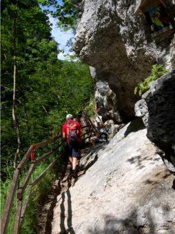 Juvvandring i Tscheppaschlucht, Sør-Kärnten, Østerrike