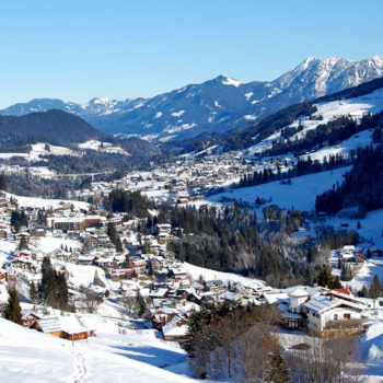 Trugevandring ved Hirschegg, Kleinwalsertal, Vorarlberg, Østerrike