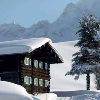 Historiske hus, Kleinwalsertal, Vorarlberg, Østerrike