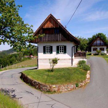 Tyspisk gårdshus i Steiermark, Østerrike