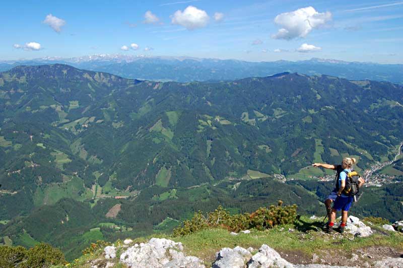 Utsikten fra Hochlantsch 1720 moh. are fantastisk, Almenland, Steiermark, Østerrike