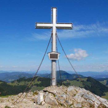 Toppkorset på Plankogel, Almenland, Steiermark, Østerrike