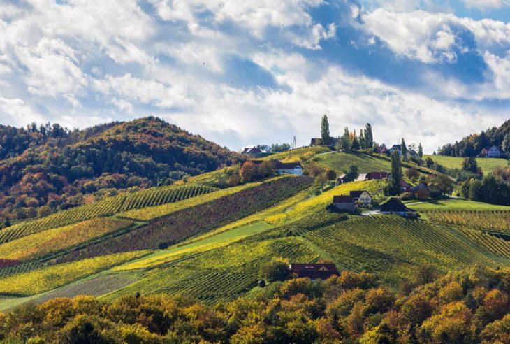 Vindistrikt i det sørlige Steiermark, Østerrike